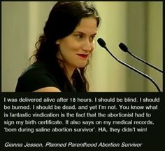 Click through to watch Gianna's amazing and passionate speech in defense of the defenseless. She is a survivor! Of Abortion The lump of cells is a human Life won! Life Is Precious, Psalm 139, Choose Life, Conservative Politics, Life Is Beautiful, Life Matters, Catholic, It Hurts, Faith