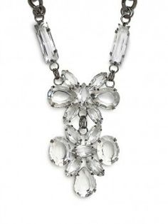 Diamond cluster drop necklace