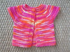 Hand Knit Cap Sleeve Sweater or Vest Mercerized Cotton by TooCozy