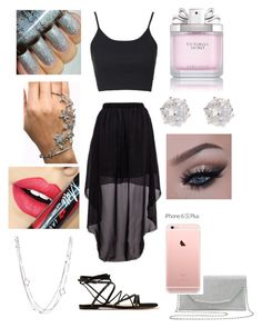 """""""A Day for a Black Skirt"""" by aryannaaaa on Polyvore featuring Gianvito Rossi, Topshop, Victoria's Secret, River Island, Fiebiger, David Yurman and M&Co"""