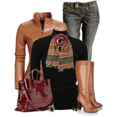 """""""Colored Leather"""" by mommygerloff on Polyvore"""