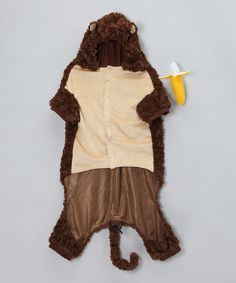 Take a look at this Monkey Dog Outfit by Trick or Treat: Pet Costumes & Toys on #zulily today! @Dawn Contreras  why don't they have this in Marios Size!