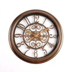 $19.99 Antiqued Brown Scrollwork Cutout Clock | Kirklands