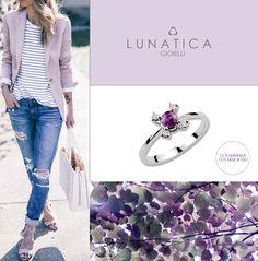 #lunatica #lunaticagioielli #roma #madeinitaly #handmade #italianstyle #style #fashion #vibes #mood #fashion #fashionista #outfit #composit #gioielli #jewellery #jewelry #whitegold #gold #18kt #ametista #amethyst #violet #lavender #lavanda #girl #jeans #ring #bling #diamonds #pure #precious #classic #wantit #colors #trend #loveit