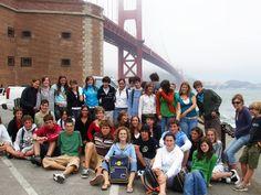 Curso de inglés en San Francisco. EMY 2005. Excursión Golden Gate Bridge.