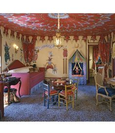 Crazy, awesome circus themed playroom.