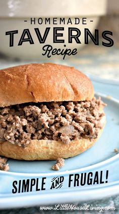 Homemade Taverns Need a great frugal, easy to make meal for supper this week? You already have all the ingredients needed for this Homemade Taverns Recipe! Burger Recipes, Meat Recipes, Crockpot Recipes, Cooking Recipes, Recipies, Dinner Recipes, Maid Rite Sandwiches, Loose Meat Sandwiches, Hamburgers
