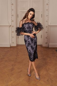 Rich in bright shades and a variety of silhouettes 'Allure' cocktail dresses collection brilliantly reflects all the latest trends in evening fashion. Evening Gowns With Sleeves, Long Evening Gowns, Short Cocktail Dress, Cocktail Dresses, Skirt Fashion, Fashion Outfits, Wedding Guest Style, Date Outfits, Classy Women