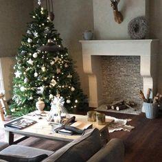 Beautiful Christmas atmosphere at our dealer Dôme de la Maison and beautiful Fresco walls in the color Soft Taupe. #pureandoriginal#fresco
