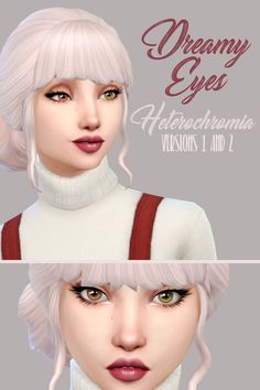 Heterochromia -Dreamy V1 & 2• Teen-Elder • M & F • Human • In the Rings category • Can pick Sims left eye or right eye Updated the links to include new Skin Detail versions, plus they're now for children and toddlers! Download & more info underneath