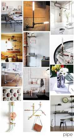 pipe inspiration - ways to incorporate a hardware store material in your decor