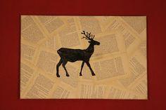 Hirsch auf gedrucktem
