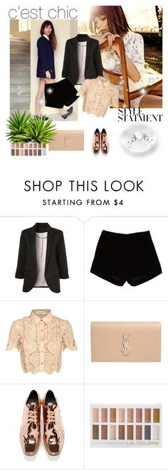"""bs*"" by cano315 ❤ liked on Polyvore featuring Suarez, Andrew Gn, self-portrait, Yves Saint Laurent and STELLA McCARTNEY"