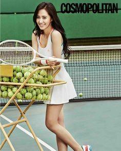 Girls' Generation Yuri Transforms into 'Tennis Girl'