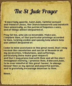 If you are in need, this prayer works.