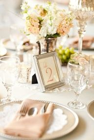 """""""expensive"""" looking colour scheme...clever table numbers"""