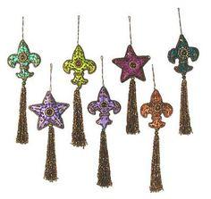 Beaded ornaments, 'Happy Holiday' (set of 7) by NOVICA