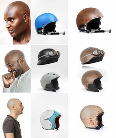 Human Head Helmets - By Jyo John Mulloor This Dubai-based digital designer has created images of 4 different helmets with the theme of bare human heads. Influenced by trompe-l'œil, an art from which.