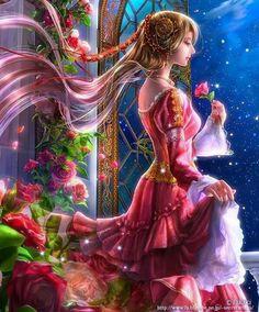 Art by Takaki Fantasy Women, Fantasy Girl, Beautiful Fantasy Art, Beautiful Images, Princesas Disney Dark, Arte Sailor Moon, Jolie Photo, Anime Fantasy, Fairy Art