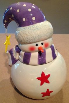 Snowman Cookie Jar by Certified International
