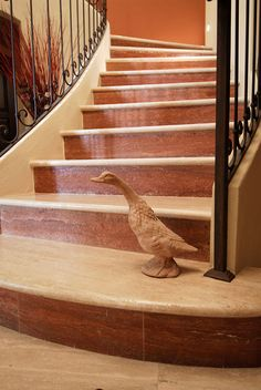 Scale in Marmo Travertino Rosso e Navona Stairs, House, Home Decor, Travertine, Granite, Stairway, Decoration Home, Staircases, Home