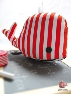 whale softie  cute option for a decor toy that's a little more modern and colorful.. to add to the eclectic vibe =)