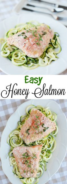 This honey baked salmon is easy to make with this baked-in-foil recipe! In the oven it goes for a perfect, flaky, fish!