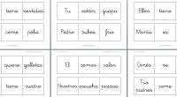 En blanco y negro El libro móvil de las frases 3  palabras Manipulativo y editable