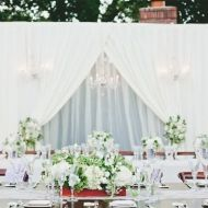 Rustic Outdoor Wedding: Navy, Stripes And Fabulous Florals » Favdig