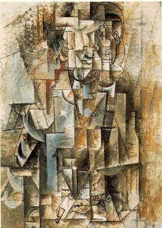 Pablo Picasso, -Man with a Violin- 1911-1912, Philadelphia Museum of Art