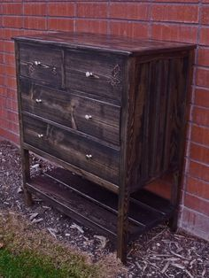 Build this small dresser with bottom shelf. Find the free #plans for this piece at Ana-White.com #DIY