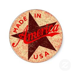 Made in America Round Stickers