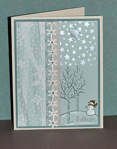 White Christmas, Good Greetings, All is Calm designer series paper