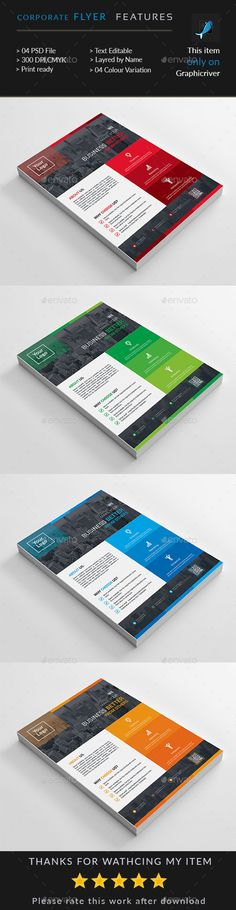 Corporate Flyer by Death_pixels Corporate Flyer, Corporate Business, Layout Design, Print Design, Graphic Design, Brochure Design, Flyer Template, Templates, Flyers