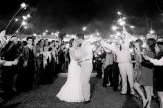 Black & White; Last Kiss of the Night; Sparkler Sendoff; Southern Wedding, Rustic Wedding, Farm Wedding, Fall Wedding; Oak Level Farm