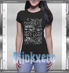 let's get lost tshirt //Price: $10 & FREE Shipping //     #custom shirts