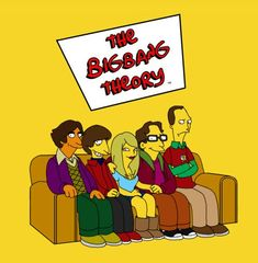 Vamers Humour - The Big Bang Theory - The Simpsons Mash-Up Big Bang Theory, The Big Theory, Geeks, The Big Bang Therory, Old Posters, Movie Posters, Thats 70 Show, Simpsons Characters, Movies And Series