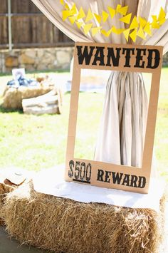 Cowboys and Indians Birthday Party. DIY Wanted Poster perfect for a photo prop!