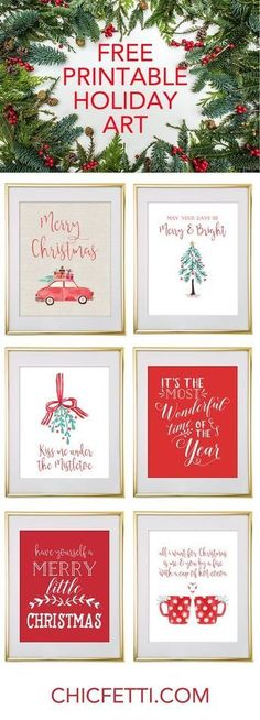 Free Printable Holiday Christmas Wall Art