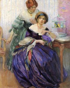 A Pledge of Love, Karl Albert Buehr, Early 20th Century. Mid 19th Century Inspiration