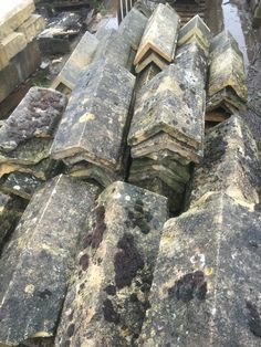 #Reclaimed natural stone ridge tiles