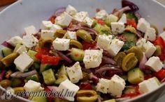 Görög saláta recept fotóval