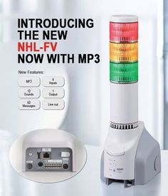 The Network Monitoring Signal Tower Now with MP3 Voice Alerts. New to the NHL Series Network Monitoring Signal Towers #Patlite introduces the NHL-FV.  The NHL Series is designed to help maximize productivity and minimize data loss by notifying administrators of any network abnormalities as they develop via #LED #light notifications audible alarms e-mail notifications and now MP3 voice messaging.