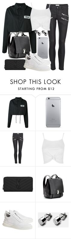"""Untitled #19836"" by florencia95 ❤ liked on Polyvore featuring Hood by Air, Anine Bing, Topshop, Yves Saint Laurent, Proenza Schouler and Filling Pieces"