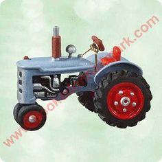 2003 Antique Tractor Hallmark Miniature Ornament