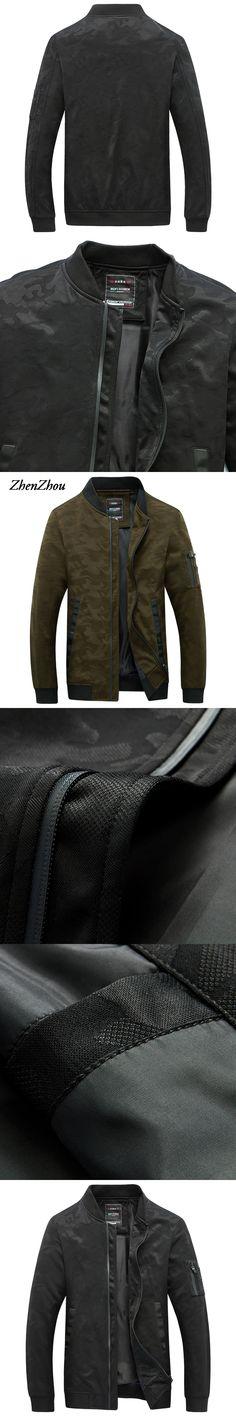 Bomber Jacket Mens Jacket 2017 New Spring Autumn Male Windbreaker Camouflage Men Jacket Military Style Plus Size M-5XL