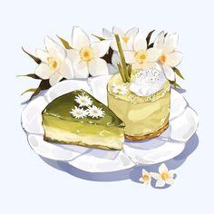 Arte Do Kawaii, Kawaii Art, Cute Food Drawings, Kawaii Drawings, Cute Food Art, Cute Art, Dessert Illustration, Illustration Art, Desserts Drawing