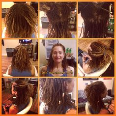 Style: Microlock Retight and Maintenance (interlocks) Client's Hair Type: 2c/3a  Hair Added: NA  Products Used: Coiled! by Conscious Coils (Original Refresher Spray)   Time: 2hrs 22mins  Style Duration: retight every 6weeks