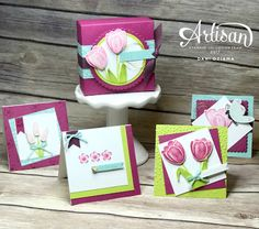 Dani's Thoughtful Corner: Stampin' UP! Artisan Design Team Blog Hop- Tranquil Tulips, Hostess Display Stamper Day 2