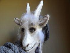 Masquerade mask goat head mask goat costume paper by MiesmesaBerni